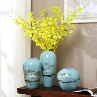 New Chinese style furnishing articles of jingdezhen ceramics vases, flower arrangement, wine cabinet TV ark the sitting room porch household soft adornment