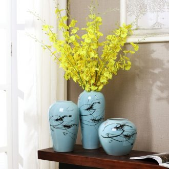 Modern new Chinese vase furnishing articles of jingdezhen ceramics vases, flower arrangement, TV ark sitting room home decoration