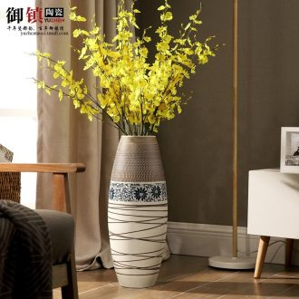 Modern fashion and contracted creative household act the role ofing is tasted ceramic sitting room ground suit vase vase dry flower arranging furnishing articles