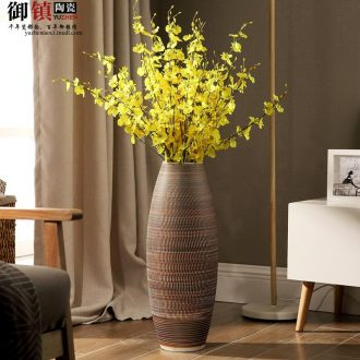 Jingdezhen ceramic floor dry flower arranging flowers big vase European contemporary and contracted the sitting room porch TV ark furnishing articles