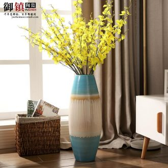 Jingdezhen modern creative household act the role ofing is tasted stateroom ground vase European ceramic vase dry flower arranging furnishing articles