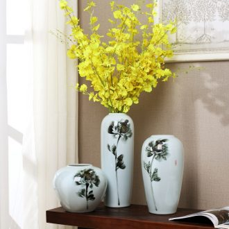 Jingdezhen modern furnishing articles of new Chinese style flower arranging ceramic hand-painted vases wine porch TV ark soft adornment ornament