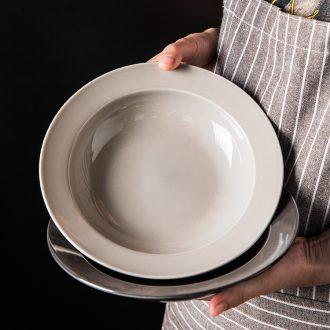 Million jia creative ceramic straw hat soup plate European steak western food home cooking breakfast fruit dish plate