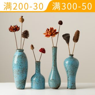 Chinese style restoring ancient ways all over the sky star ceramic vase dried flower flower implement sitting room cabinet table flower arranging furnishing articles household act the role ofing is tasted