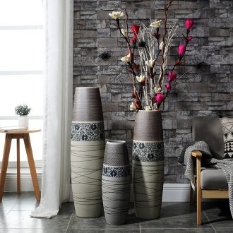 Contemporary and contracted beauty north European hotels sitting room ceramic zen new Chinese style dry flower arranging flowers hydroponics large vase