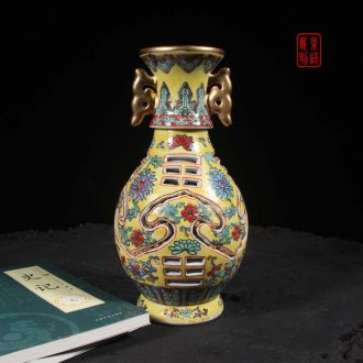 Jingdezhen porcelain antique art gossip revolving bottle back in Chinese family business hotel furnishing articles porcelain bottle