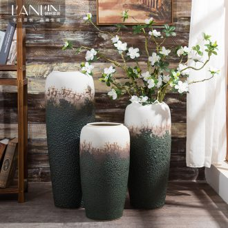 Ceramic vase furnishing articles sitting room decoration ideas dried flower arranging flowers large vases, contracted and contemporary household adornment