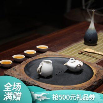More than thousand hall tea tray drainage ceramic large office home full moon 02 kung fu tea tea tray