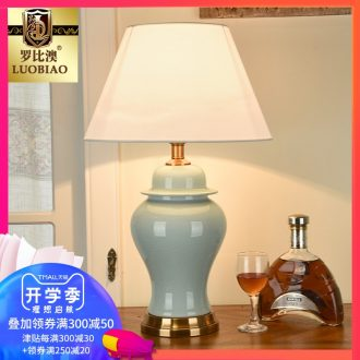 Robbie Macao American desk lamp bedroom the head of a bed lamp adjustable simple ideas warm warm light ceramic desk lamp of remote control