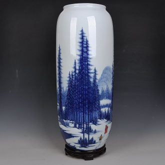 Jingdezhen ceramics Chinese celebrities hand-painted porcelain vase was home sitting room art deco handicraft furnishing articles