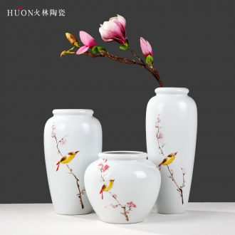 Creative modern new Chinese style ceramic vase furnishing articles contracted with TV wine jar of coloured drawing or pattern the sitting room porch decoration
