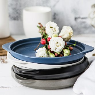 The Nordic dish dish dish household creative Japanese ears dish plate beefsteak disc ceramic plate ins web celebrity plates