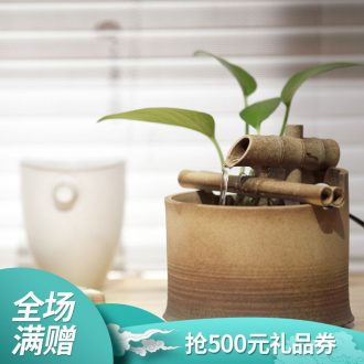 Thousands of thousand hall water furnishing articles desk decoration ceramic humidifier water Chinese lucky bamboo water fountains