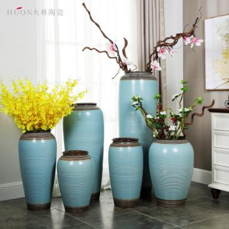 Retro creative ceramic pot of large vase porch home sitting room hotel villa decoration theme flower arrangement