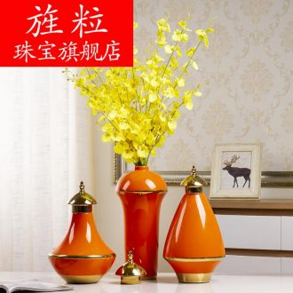 Bl light luxury furnishing articles American ceramic vase continental hotel club phnom penh wine porch creative household soft adornment
