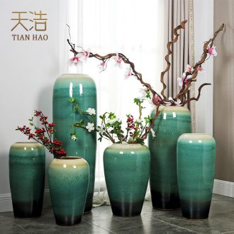 Jingdezhen ceramic new Chinese style of large vases, flower arranging contemporary and contracted Europe type TV ark sitting room adornment is placed
