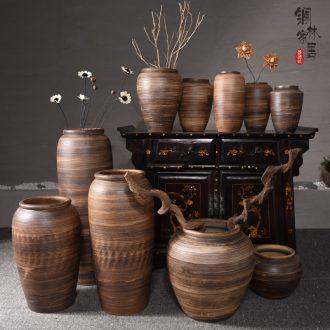 Jingdezhen ceramic sitting room be born Chinese flower vases, flower arranging hotel porch place hydroponic pot restoring ancient ways
