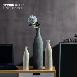 The Nordic idea pure color drawing of dry flower arranging flowers ceramic vase zen home sitting room adornment desktop furnishing articles
