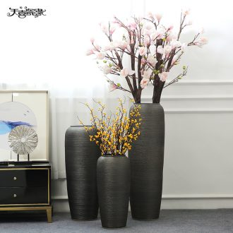 Jingdezhen big vase furnishing articles new Chinese style restoring ancient ways the hotel club villa ceramic flower implement a sitting room adornment