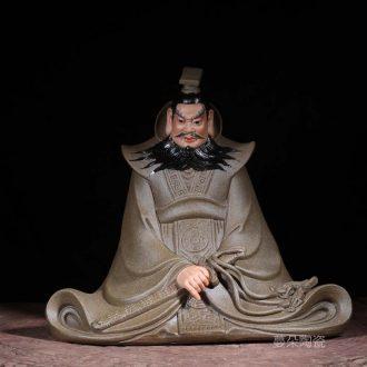 Cao cao characters ceramic porcelain sculpture furnishing articles furnishing articles qin shihuang sculpture porcelain history the emperor