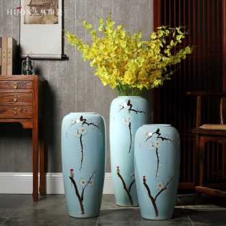 New Chinese style of jingdezhen ceramic vase of large household TV ark porch dry flower arrangement sitting room adornment is placed