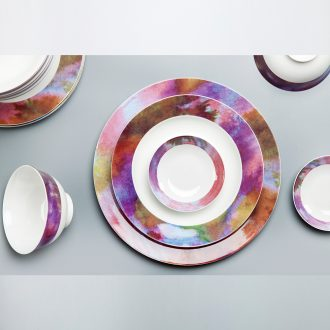 XiaLan high-grade bone China tableware gift dishes chopsticks combination jingdezhen ceramic dishes suit American home