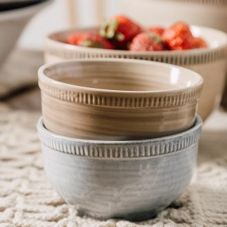 Ijarl million jia creative job rainbow noodle bowl soup bowl salad bowl bowl of restoring ancient ways of household ceramics tableware bowls of the Nile