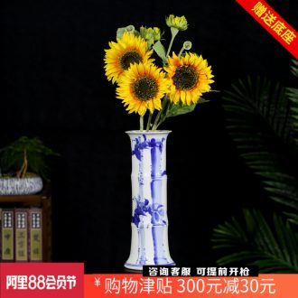 Jingdezhen ceramics lucky bamboo countertops contracted and pure and fresh and hydroponic flower arranging floret bottle home furnishing articles sitting room table