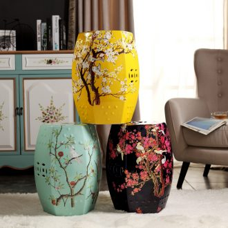 New Chinese rural study classical bedroom home dress sits stool sitting room flowers pottery drum stool pavilions, dry stool