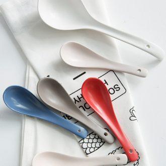 Million fine ceramic creative spoon Nordic home small spoon spoon scoop porridge spoon to drink soup spoon noodle spoon