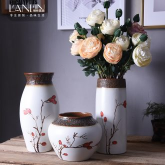 New Chinese vase hand-painted ceramic flower adornment mesa sitting room tea table table, TV ark place jingdezhen