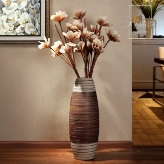 European ceramic vase of large modern fashion living room TV ark of dry flower arranging place hotel decoration