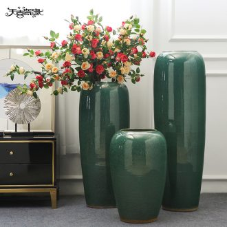 European-style villa hotel flower arranging wine example room sitting room of large vase simulation flower decoration ceramics furnishing articles