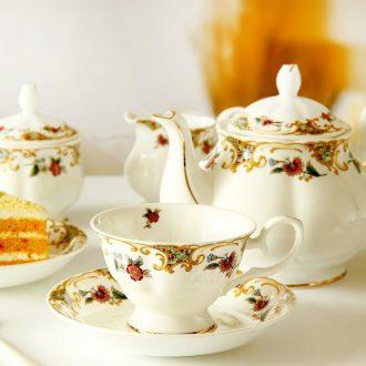Ou tea set tea tea coffee bone porcelain coffee cup suit British red ceramic cups of household
