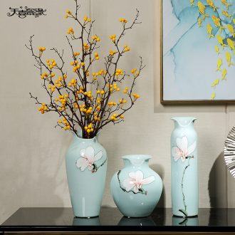 New Chinese style originality light ceramic vase household furnishing articles of luxury living room desktop hall home soft decoration