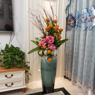 Jingdezhen ceramic exposure to big vase landing simulation flower arranging the sitting room porch villa European contemporary and contracted furnishing articles