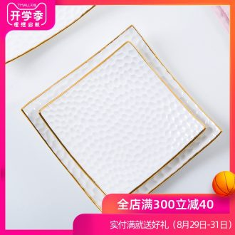 Western food bone porcelain plate creative relief prescription craft paint ceramic cake table dishes home plate