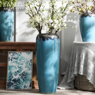 Landing a large ceramic vase furnishing articles contracted and contemporary sitting room dry flower arranging flowers porcelain hotel villa decoration POTS