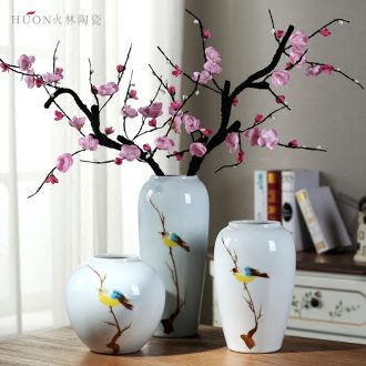 Jingdezhen ceramic creative vase furnishing articles sitting room TV cabinet dry flower arranging flowers contemporary and contracted new Chinese style decoration