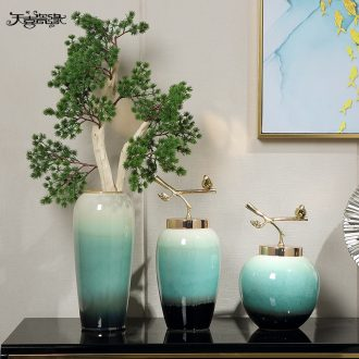 Jingdezhen European ceramic vases, flower arranging guest-greeting pine household act the role ofing is tasted furnishing articles new Chinese style living room mock up room decoration
