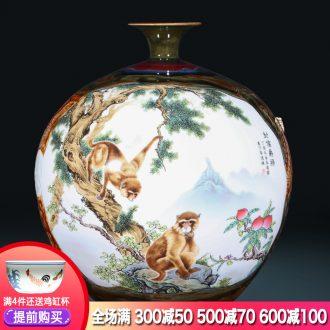 Jingdezhen ceramics craft kiln sealing hou JueLu big vase sitting room decoration new Chinese style hotel furnishing articles