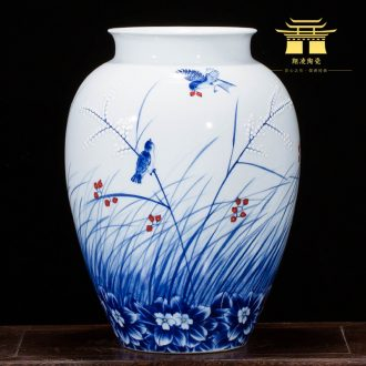Jingdezhen ceramics landscape painting drawing big vases, flower arranging new Chinese style household act the role ofing is tasted the sitting room porch place