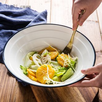 Japanese ceramics la rainbow noodle bowl home students cute large hat to bowl of beef noodles in soup bowl tableware bubble is a single commercial rainbow noodle bowl