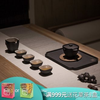 Million kilowatt/ceramic tea set # suit sets of kung fu tea set home household gift tea set suit sifang reunion