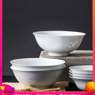 Inky and exquisite porcelain bowl household Chinese tableware large rainbow noodle bowl soup bowl single jingdezhen ceramic plate