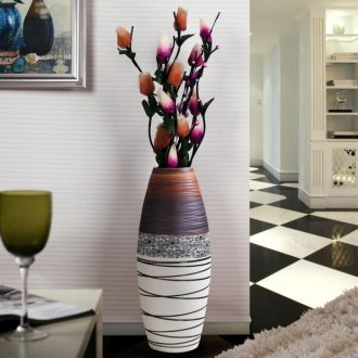 Tall vases furnishing articles home European sitting room porch TV ark dry flower arranging contracted and contemporary creative ceramic floor