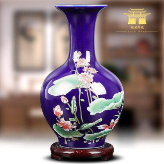 Jingdezhen ceramics modern cloisonne lotus flower bottle place flower arrangement home sitting room adornment handicraft