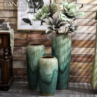 Vase furnishing articles flower arranging large sitting room ground jingdezhen ceramic handmade contracted Nordic artical vase