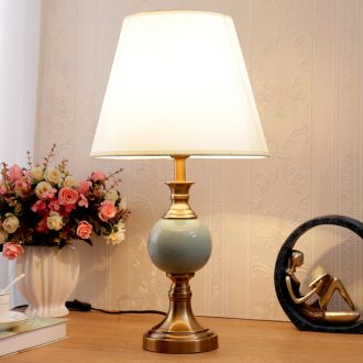 European fashion household luxurious bedroom berth lamp creative warm sitting room study adjustable light ceramic decoration lamp