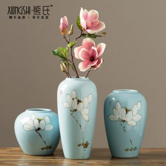 Jingdezhen ceramics vase ikea large sitting room of Chinese style flowers lucky bamboo dried flowers flower arrangement TV ark furnishing articles